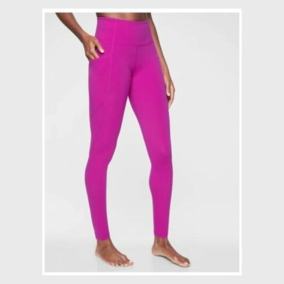 4236c0d9f1d2f0 Athleta Pants | Nwot Rose Salutation Stash Leggings | Poshmark